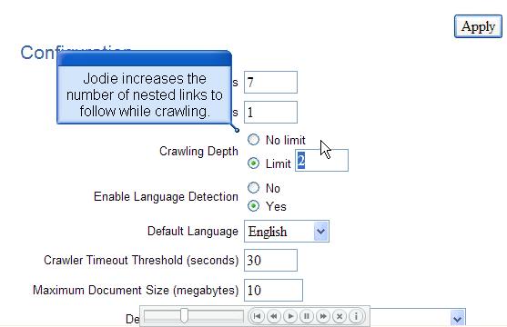 Oracle Secure Enterprise Search 爬虫的设定